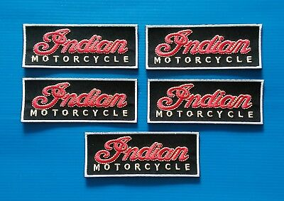 5 VALUE LOT INDIAN MOTORCYCLES Easy Iron/Sew On BIKER Patches FREE SHIP