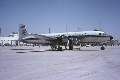 Original Aircraft Slide DC.6B YK-AEA Syrian Arab Airlines Oct64