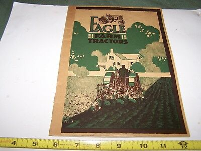Original EAGLE #31 Farm Tractor Sales Catalog Hit Miss Gas Engine Steam Oiler