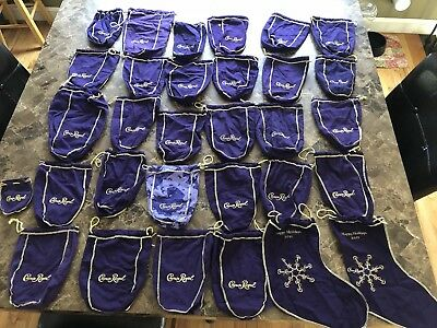 Lot of Crown Royal - Whiskey bags - 31 total