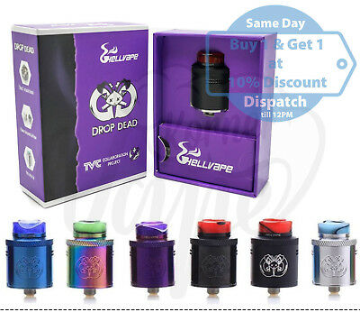 HellVape DROP DEAD RDA - TVC x Heathen All Colors Authentic & Genuine