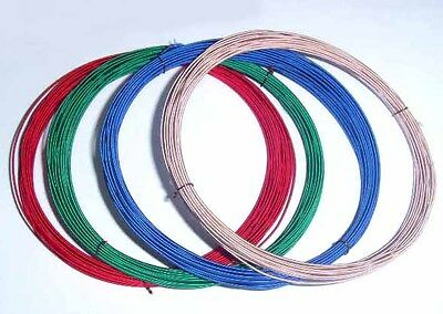 Nostalgic Hook-Up Wire, Enamelled Copper Wire with Silk Covered, Diameter 0,8 Mm