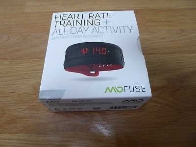 mio fuse - black and red - large strap length