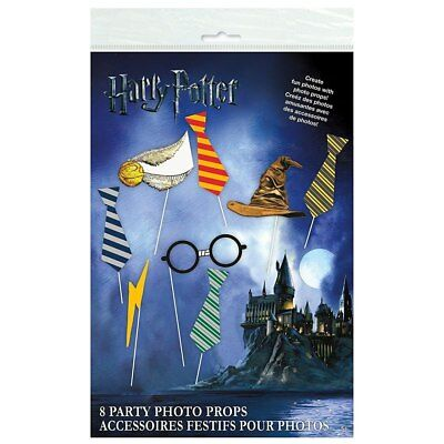 Harry Potter Hogwarts Wizard Birthday Party Supplies 8 Party Photo Booth Props