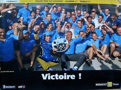 2 Posters Renault F1 TEAM