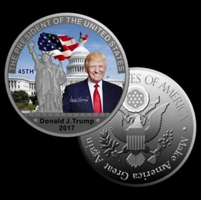 New American President Donald Trump Silver Coin US White House Coin Collection
