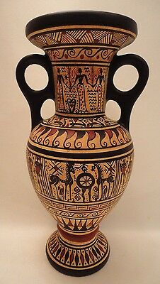 Ancient Greek Pottery Art Rare 900 BC Geometric Painted Vase Loutrophoros