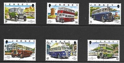 JERSEY 1998 75th ANNIV OF MOTOR TRANSPORT BUSES (1st SERIES) SG 844-49 SET 6 MNH