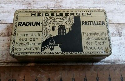 Heidelberger Radium Pastillen Dose um 1920  German Radium Pills Tin