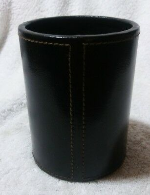 "Tiffany & Co Leather Stitched Pencil/Pen Holder 4"" × 3""."
