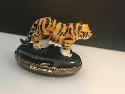 Limoges Trinket Box - Tiger