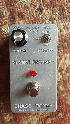 """Chase Tone Secret Preamp """"Transparent"""" Custom Finish! 2017 NEW One of a kind"""