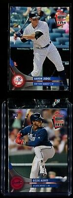 2018 Topps National Baseball Card Day Unopened Pack Ozzie Albies & Aaron Judge