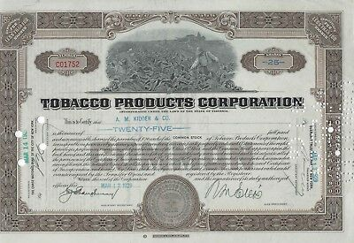 Tobacco Products Corporation (Aktie) -1929-