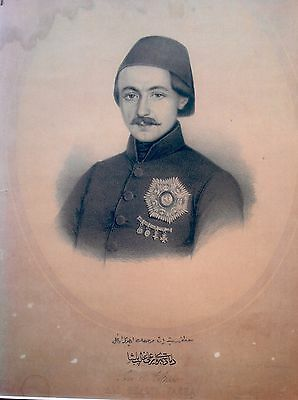 Turkish,turkey/ali Ghalib Pasha /first Class Medjidie/ottoman Medals/rare Print