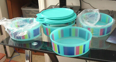 """Tupperware """" NEW """"Impressions Microwave decorative Cereal Bowls"""