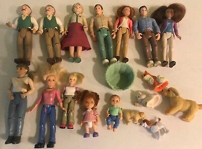 Fisher Price Loving Family Dolls and Pets - 18 pieces!