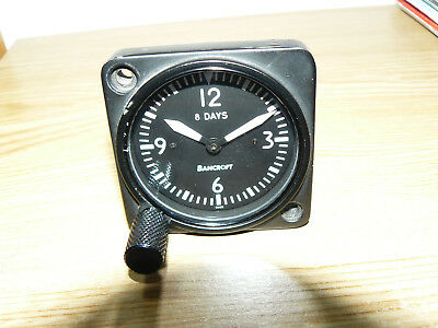 Very nice 8 days Revue Thommen Lemania aircraft cockpit clock, in good condition