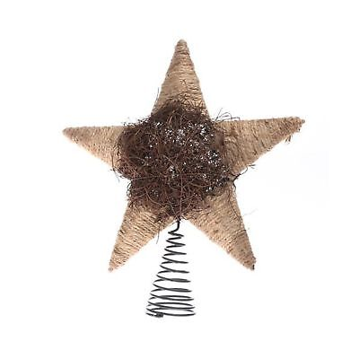 Factory Direct Craft Natural Christmas Tree Topper with Coil Base (Jute & Twig)