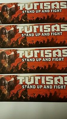 TURISAS Aufkleber 4 Stk. STAND UP AND FIGHT