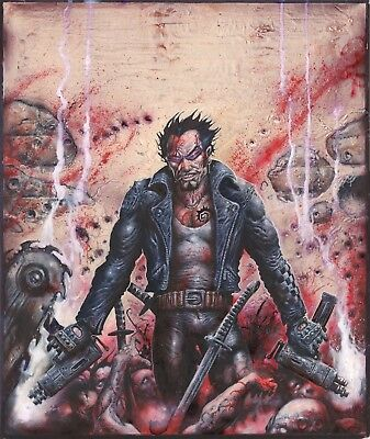 Violence Front Cover Original Hand Painted Roleplaying Art Clint Langley