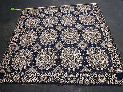 """NICE 1835 Handwoven/Spun Blanket ~ Signed & Dated ~ 84"""" x 90"""""""