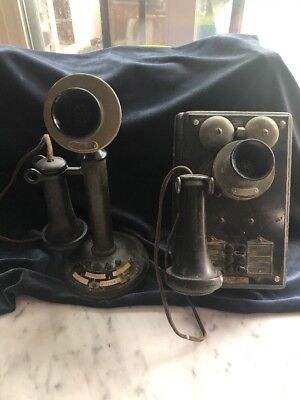 Bell System Western Electricn Candle Stick Intercom Telephone