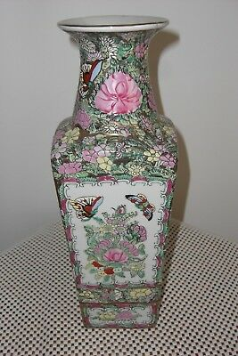 VINTAGE CHINESE FAMILLE VERT VASE,31cms TALL,MARKED ON BASE