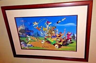 Hanna Barbera Signed Cel Forty Years Characters Yogi Scooby Top Cat Cell