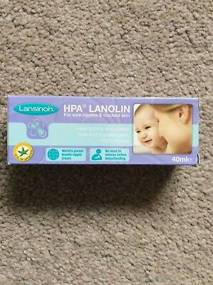 BNIB Lansinoh HPA Lanolin Cream for Sore Nipples & Cracked Skin 40ml