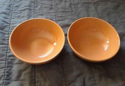 Iroquois  Casual China Russel Wright Ripe Apricot Cereal Bowls