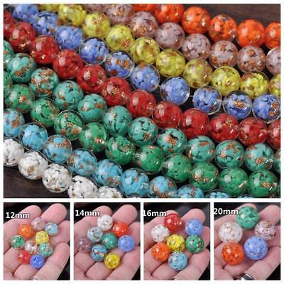Round Lampwork Glass Crystal Loose Spacer Craft Beads Jewelry Making 12~20mm