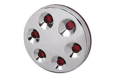 Chrome 3 Hole 3-D Derby Cover for Harley Davidson Big Twin 1970-84