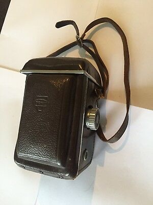 Prinz Auto TLR Twin Lens Reflex Camera with Leather Case Excellent Condition