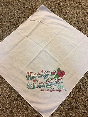 Vintage The Right Stuff Harley-Davidson Motorcycle Bandana HD Bikers Only Rose