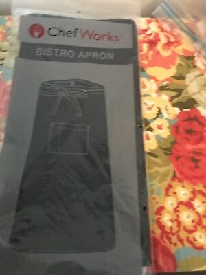 Chef Works Bistro Apron. New. Black. Front Tie.