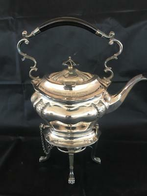 Good Antique Silver Plated Tea Pot, Stand And Warmer. C1903.