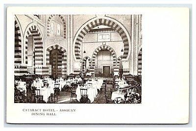 Vintage Postcard Dining Hall Cataract Hotel Aswan Assouan Egypt B2