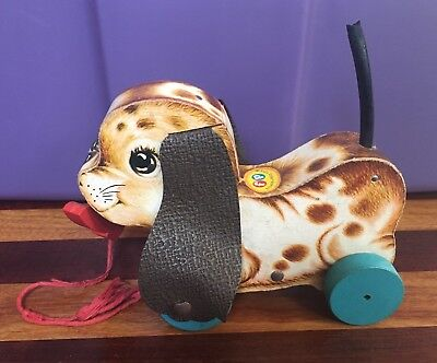 Vintage Fisher Price 1960's Playful Puppy #625 Pull Toy