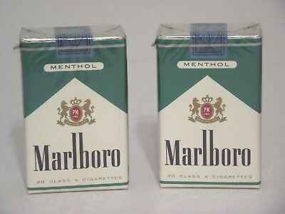 2 Vintage Collectible Marlboro Menthol Cigarette Pack Full Sealed Philip Morris