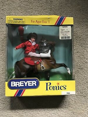 Vintage Breyer Ponies 7001 With Box Pony Horse And Rider Gift Set 1998