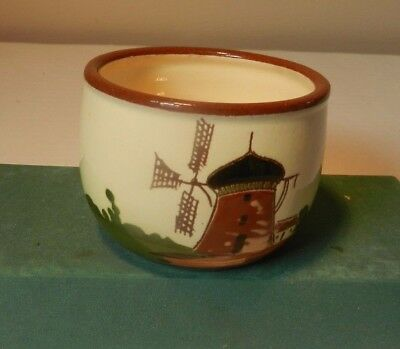 Windmill theme bowl  from  Watcombe pottery with motto