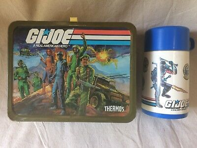 GI Joe Metal LUNCHBOX & THERMOS- Complete! 1982 HASBRO