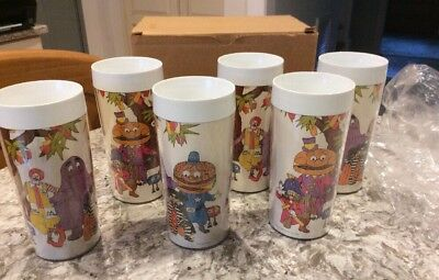 1978 NIB Set Of 6 McDonald's Fast Food plastic Thermo-Serv cup Ronald &the Gang