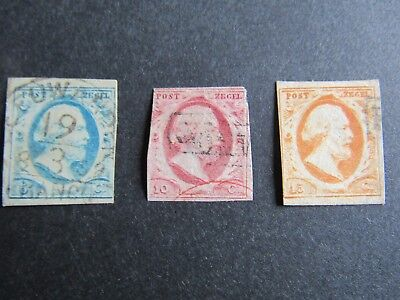 1852 Netherlands - SC 1-3 - King William III - Complete Set of 3 - Used