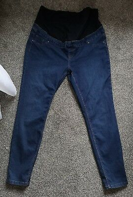 "New look size 16 womens ladies maternity over the bump 32"" leg jeggings jeans"