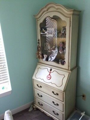 Vintage Curio and Secretary Desk