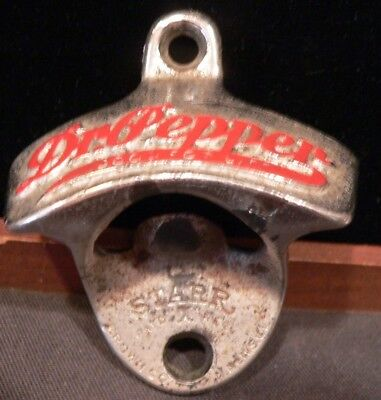 Early Dr. Pepper Wall Bottle Opener  Pat'd X Reg