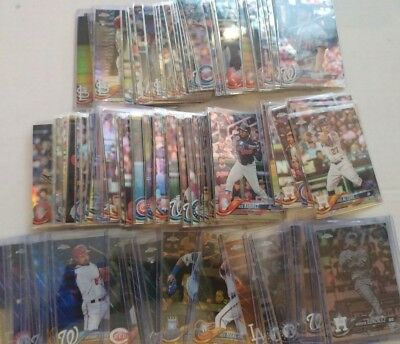 2018 Topps Chrome Parallel Baseball Cards You Pick UPick From List Lot 1-200