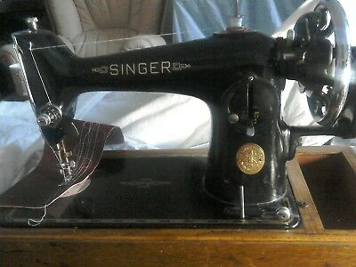 V8ntage Singer 201k Hand crank machine, see it sewing sweetly on YouTube
